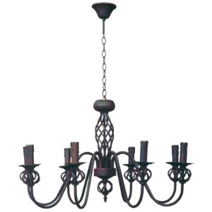 BRIGHTSTAR CHANDELIER 8X60W E27 WROUGHT IRON CH065/8 RUST