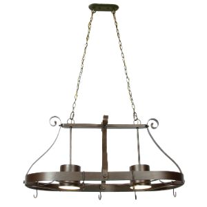 BRIGHTSTAR CHANDELIER 2X60W METAL KITCHEN + HOOK CH1539/2 OLD GOLD